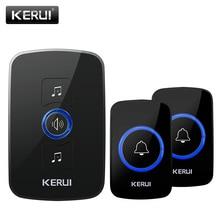 KERUI Welcome Home Doorbell Intelligent Wireless Door bell Alarm LED light with 32 Ringtone Adjustment