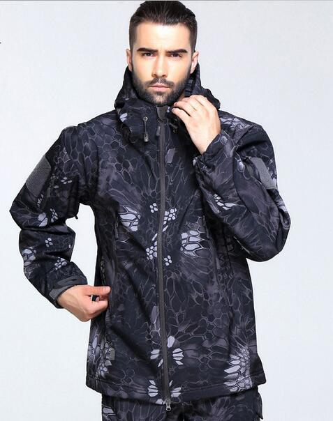 НОВЫЙ 2017 Армия Тактическая Куртка человек Lurker Акула кожа Мягкий Shell Новый TAD V4.0 Военная Пальто мужчины Куртка Водонепроницаемая Одежда