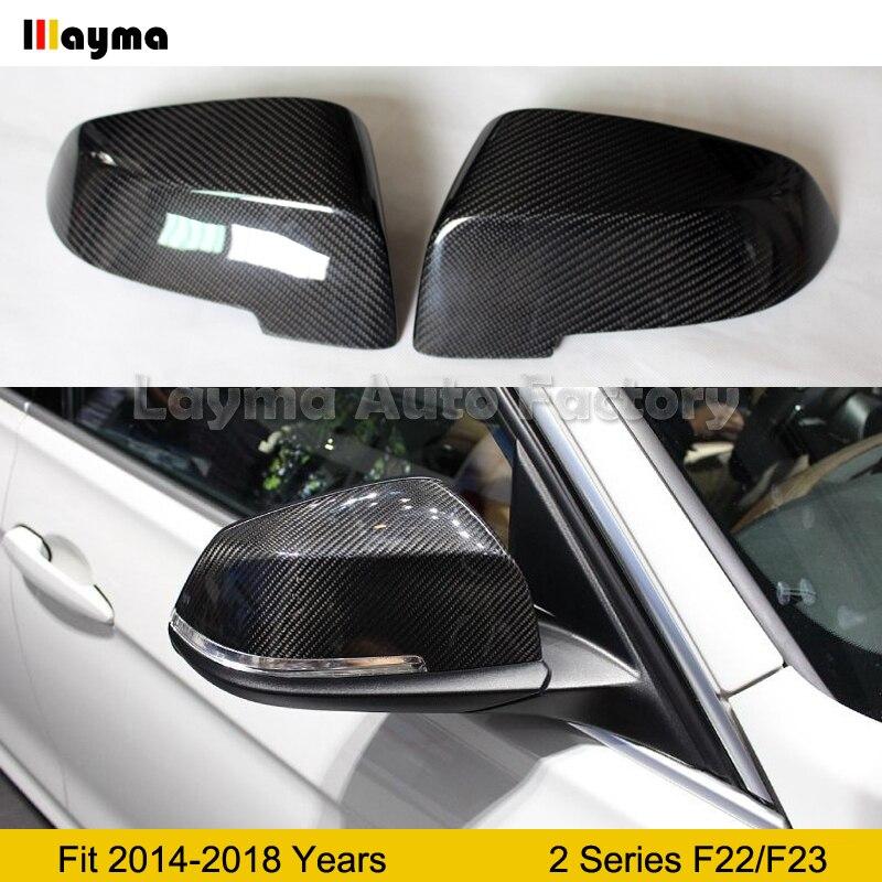 F23 Carbon Fiber Mirror cover For BMW 2 Series 2Door 218i 220i M235i M240i 2014 2018