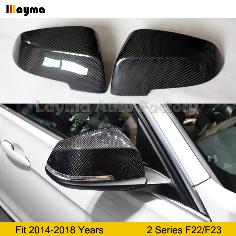 F23 Carbon Fiber Mirror cover For BMW 2 Series 2Door 218i 220i M235i M240i 2014 2018 year F22 coupe Car rear mirror cap 1 pair