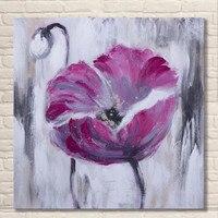 פשוט תמונת שמני מופשט יד מצוירת ציורי ציור שמן על בד עבודת יד אקריליק פרח פרחוני וול אמנות עיצוב בית