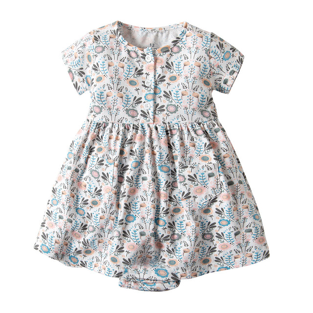 Loose Cotton Romper Dresses for kids