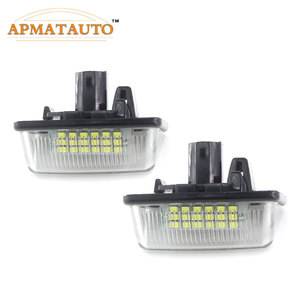 2pcs White LED License Number Plate Light Bulb Canbus For Toyota Corolla_E11 Crown S180 Starlet EP91 Vios Previa ACR50,GSR50(China)