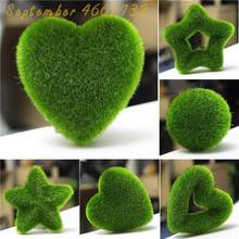 500Pcs bonsai Moss garden, green plant,Decorative Grass flores,Potted Plant For DIY Home Landscape Ornamental Garden Decor(China)