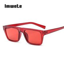d4848bcd4 Imwete Retângulo Do Vintage óculos de Sol Das Mulheres Dos Homens de Moda  Óculos de Sol Vermelho Masculino Feminino Designer De .