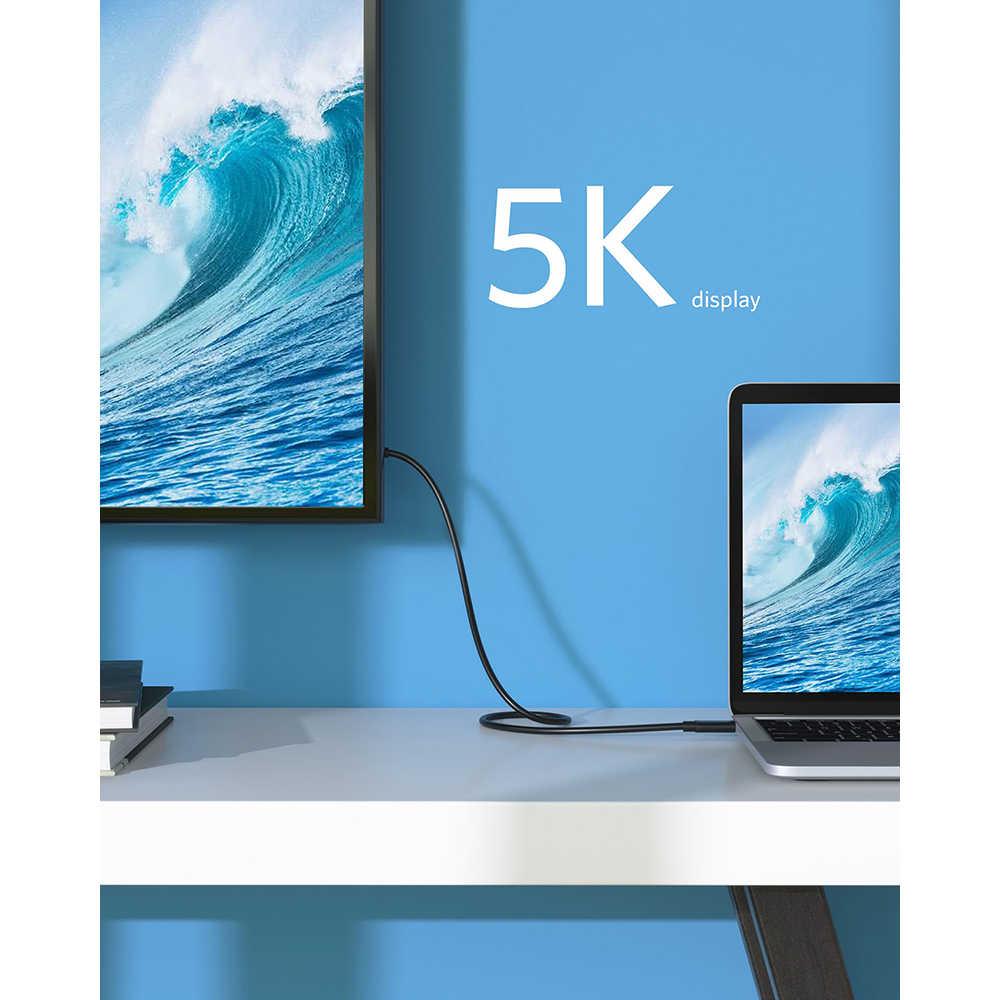Anker Thunderbolt Cable 3,0 USB-C a C 1,6 ft 40 Gbps de transferencia de datos compatible con USB 3,1 Gen 1/2 perfecto para el tipo-C Macbooks