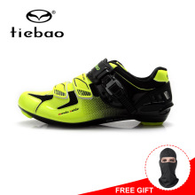 Tiebao Men Outdoor Self locking Cycling Shoes Nylon Fibreglass Sole Bike Shoes Non slip Road Bike