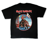OKOUFEN Iron Maiden Bear Final Frontier California Shows 2012 Mens T Shirt Official New