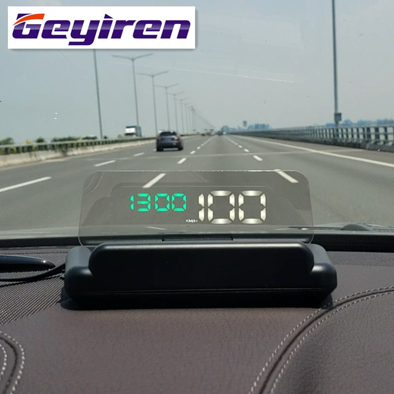 GEYIREN hud T900 HUD C500 obd head up display gps speedometer universal car Overspeed Warning Windshield Projector Alarm System-in Head-up Display from Automobiles & Motorcycles