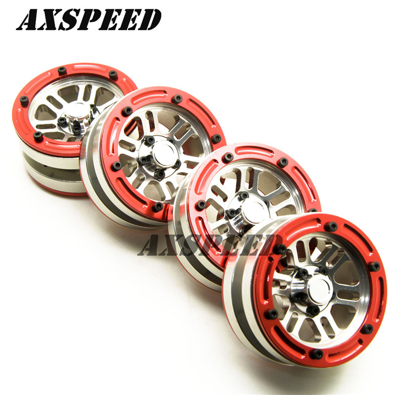 Parts & Accessories Toys & Hobbies 1.9 Alloy Beadlock Wheels Rim For Rc 1:10 Crawler Car Scx10 Cc01 D90 Trx-4 #38 Silver Red/yellow Edge Attractive Fashion