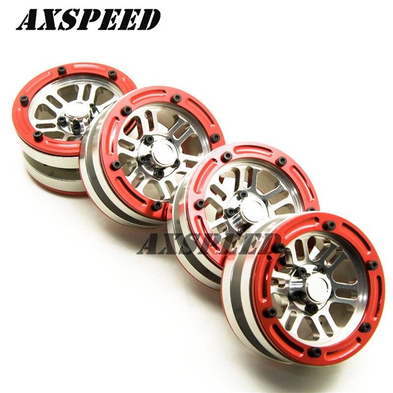 Red/yellow Edge Attractive Fashion Toys & Hobbies 1.9 Alloy Beadlock Wheels Rim For Rc 1:10 Crawler Car Scx10 Cc01 D90 Trx-4 #38 Silver