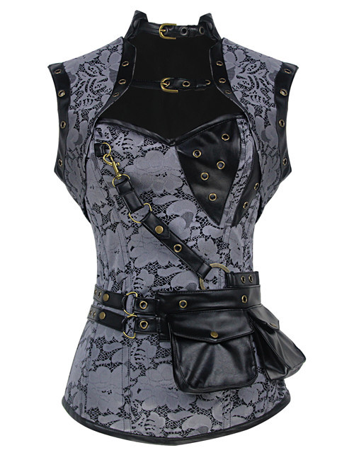 New Steel Bone Waist Control Slimming Steampunk Corset Corselet Top Women Gothic Overbust Bustiers & Corsets For Waist Trainer
