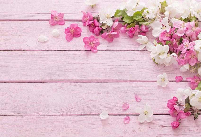 7x5ft Hot Pink White Fl Flowers