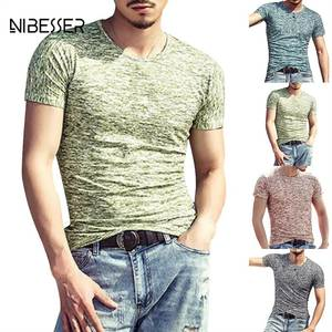 NIBESSER Tee Shirts Men T-Shirts Long Sleeve Top Clothing