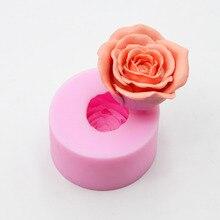 3D розы форма печенье мыло шоколад силиконовые формы помадка силиконовые формы для торта DIY выпечки Инструменты