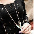 2015 Free shipping new Fashion High quality Exaggerated punk personality Geometric metal triangle pendant necklace jewelry