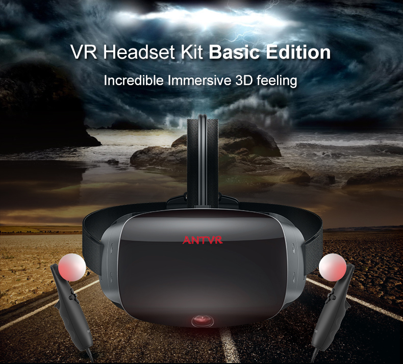 ANTVR 17 New Virtual Reality Glasses Headset for PC Virtual pc Glasses Binocular 110 FOV 2160*10P VR box Immersive 3D VR 1