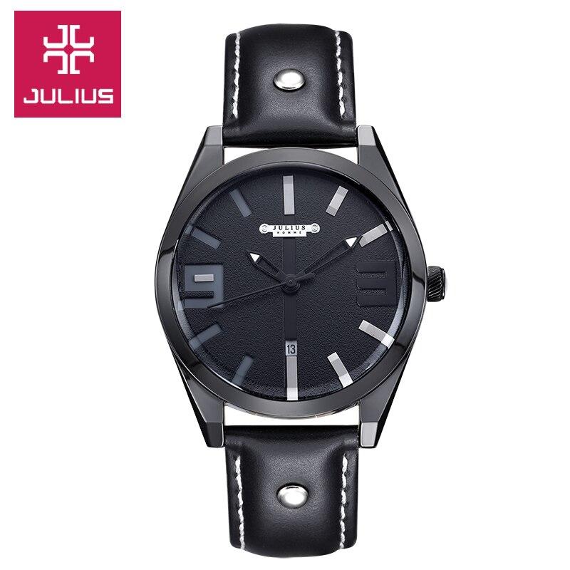Julius Homme Men's Watch Japan Quartz Hours Top Fashion Retro Clock Bracelet Leather Boy Birthday Christmas Valentine Gift 089 цена и фото