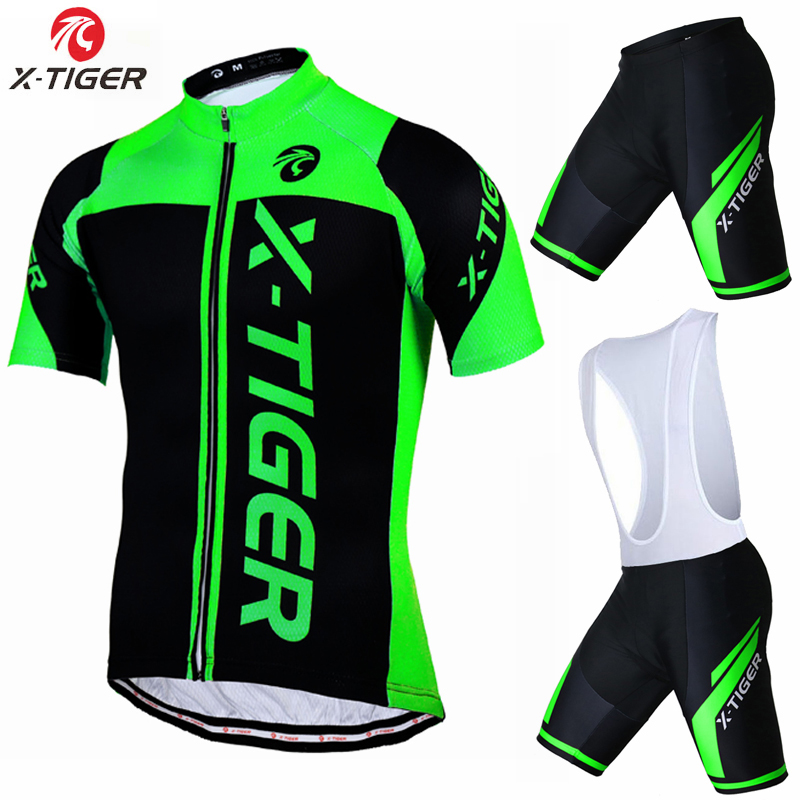 X-Tiger 100% Polyester Breathable Cycling Jersey set 2017 New Mountian Bicycle Sportswear Bike Clothing Maillot Ropa Ciclismo polyester summer breathable cycling jerseys pro team italia short sleeve bike clothing mtb ropa ciclismo bicycle maillot gel pad