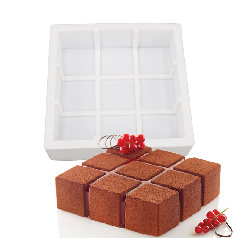 Silicone 3D Geometric Simplicity Mold Cake Decorating ...