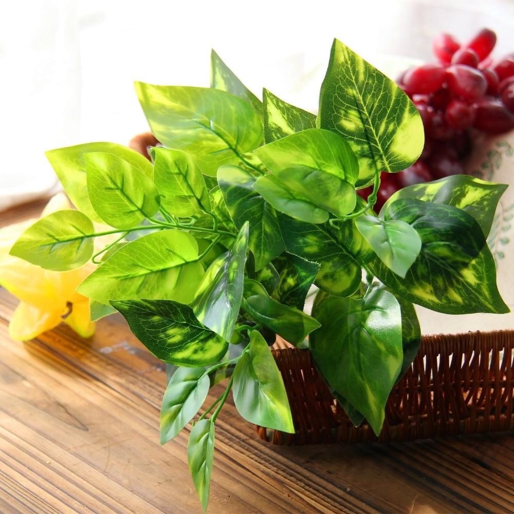 Umělé listy umělé listy imitace Fern plastové umělé trávy listy rostlin pro listy rostlin domácí svatební výzdoba