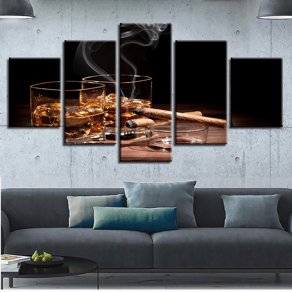 Canvas HD Prints Poster Kitchen Wall Art Pictures Framework 5 Pieces ...