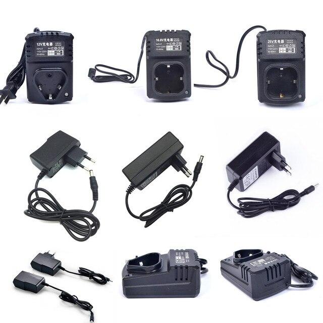 12 V 16,8 V cargador para par destornillador eléctrico taladro Diy 21 V taladro conductor cargador de batería adaptador UE/ee.uu. Plug