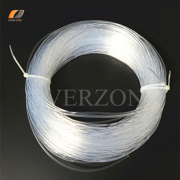 clear solid core 2 0mm sideglow optic fiber lighting cable roll