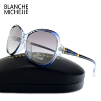 Blanche Michelle Hoge Kwaliteit Vlinder Gepolariseerde Zonnebril Vrouwen Merk Designer 2017 UV400 Sunglass Gradiënt Lens Zonnebril