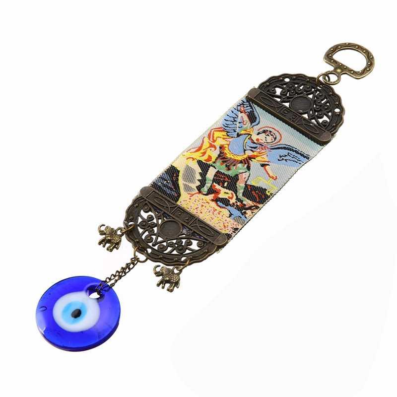 Hot Sale Beruntung Turki Blue Evil Eye Amulet Liontin Gantung Ornamen 25 cm Charms Pendant Home Decor Shellhard Baru