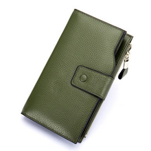 Women cow leather-based purse greenback worth pockets girls's wallets bank cards money holder