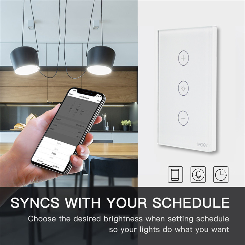 Image 5 - WiFi Smart Dimmer Light Switch APP Remote Control Works with Amazon Alexa and Google Home IFTTT Smart Home SystemSwitches   -