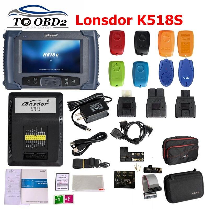 Programmeur de clé Lonsdor K518ISE pour toutes les marques avec des Supports de réglage d'odomètre pour V-W 4/5th pour BMW FEM/BDC Lonsdor K518S