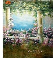 Профессиональный 10'x 20 '/3x6 м свадебные фотографии живописных фонов, ручная роспись Муслин детей фото фонов F5155