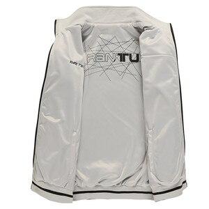 Image 4 - Erkek ceket yeni bahar sonbahar spor giysileri standı yaka spor çift yan aşınma palto erkek eşofman artı boyutu 5XL 6XL