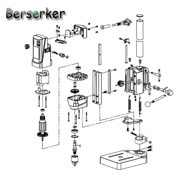 Berserker Mini Bench Drill Power electric drill for drilling Machine Work Bench  220V 710W 13mm 5156E Free Shipping 4