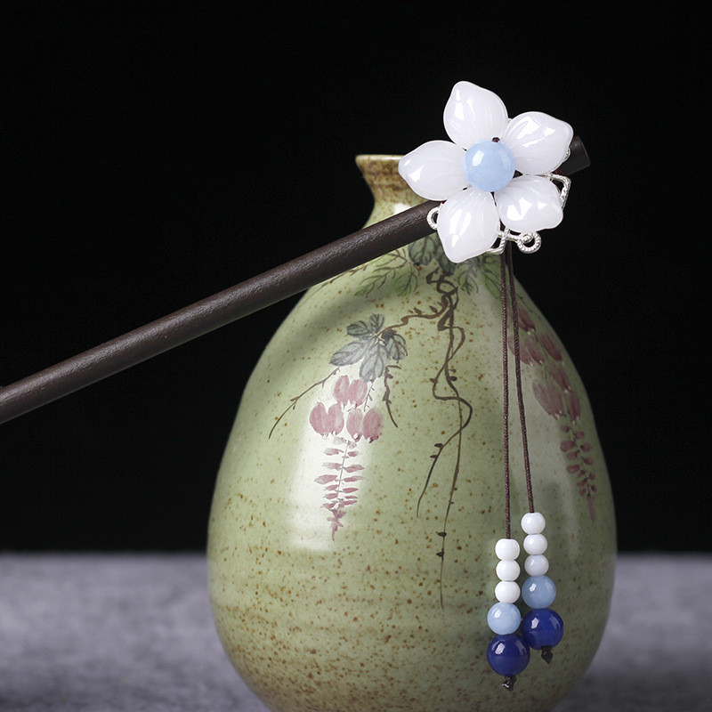 Vintage Wood Chinese Hairpin 4