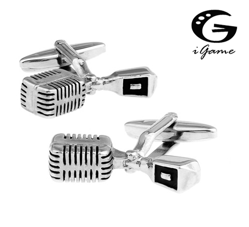 IGame Microphone Cuff Links 3 Colors Option Novelty Music Design Free Shipping