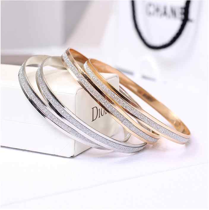 Bangles Sale Bangle 2018 Luminescence Golden Border Royal Jewelry Accessories New Charm Bracelet Rose Frosted Female Wristband