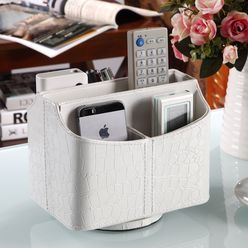 European - style rotary remote control storage box creative bedside stationery coffee table cosmetics desktop storage box