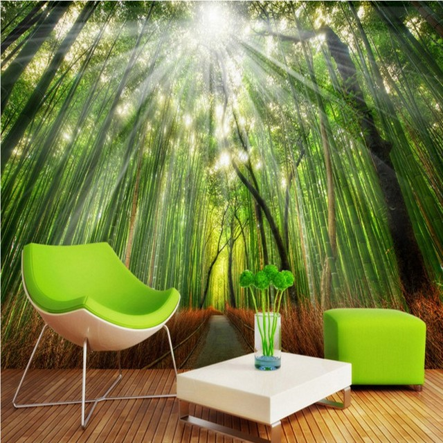 Custom Photo Wallpaper Bamboo Grove 3D Wall Paintings Background Mural Living Room Bedroom Home