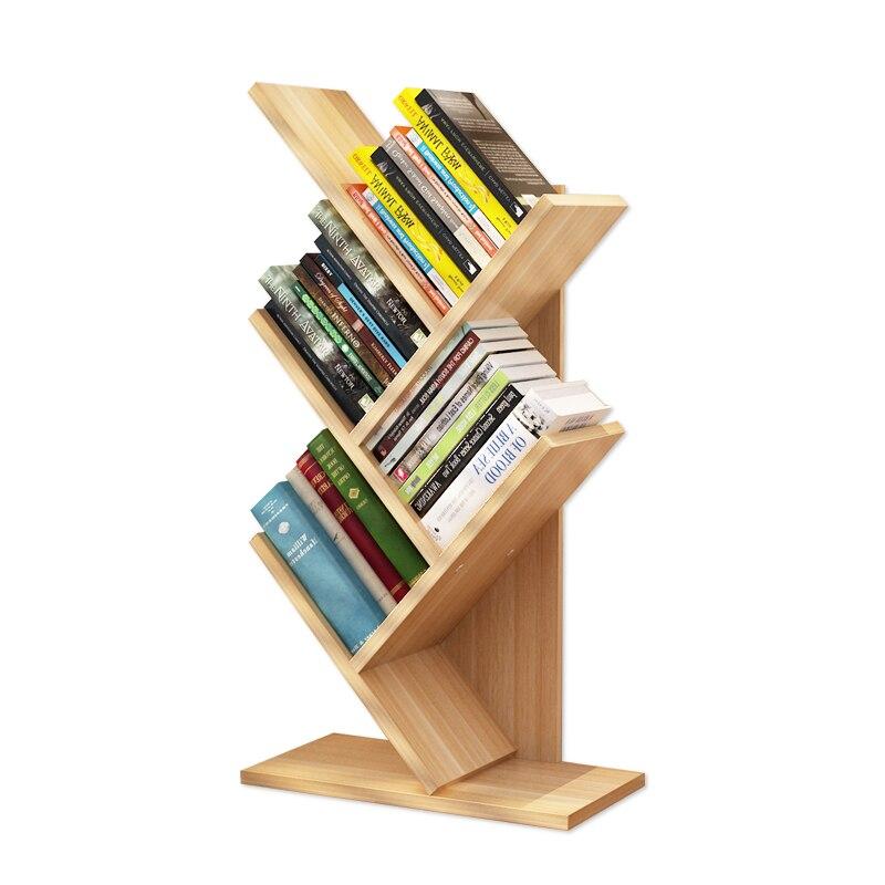 wood shelf Simple modern space space bookshelf simple table student bookcase floor multi layer creative rack tree