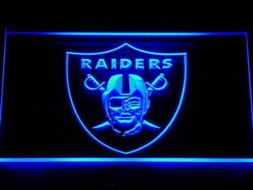 143 Oakland Raiders Football Bar Beer LED Neon Sign with On/Off Switch 7 Colors to choose