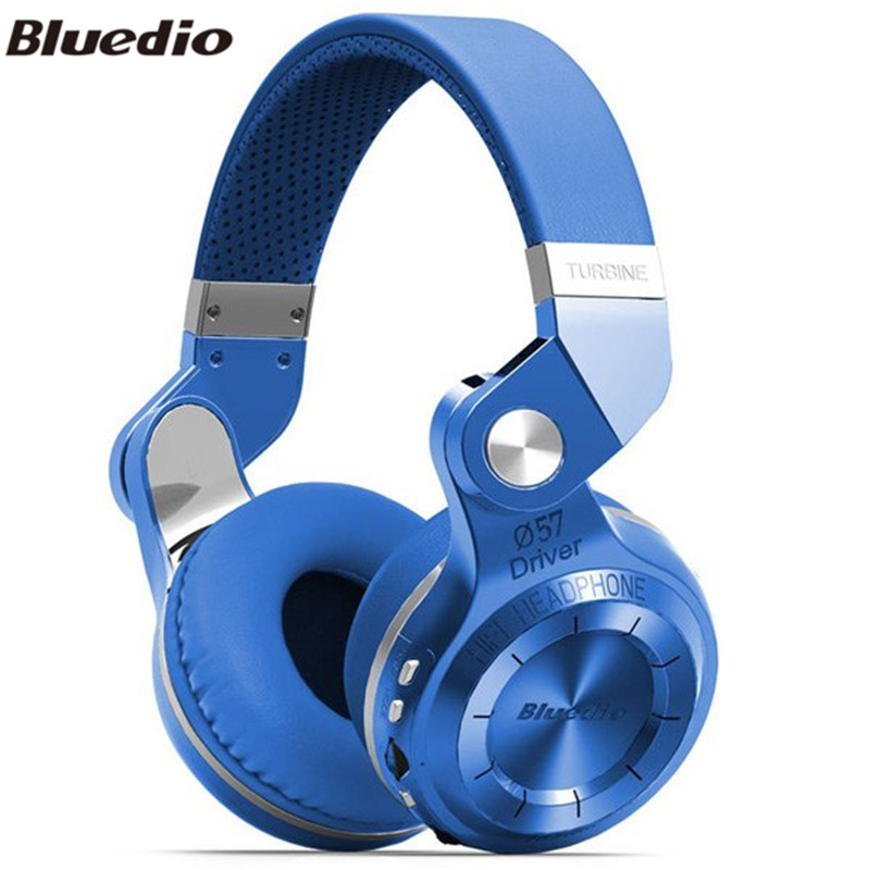 ФОТО Bluedio T2 + Plus Wireless Bluetooth 4.1 Stereo Headphone Foldable Over the Ear Headset Support TF Card / FM for Smartphone
