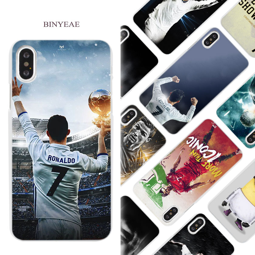 BINYEAE cr7 cristiano ronaldo soccer Hard White Phone Case Cover Coque Shell for iPhone X 6 6S 7 8 Plus 5 5S SE 4 4S 5C