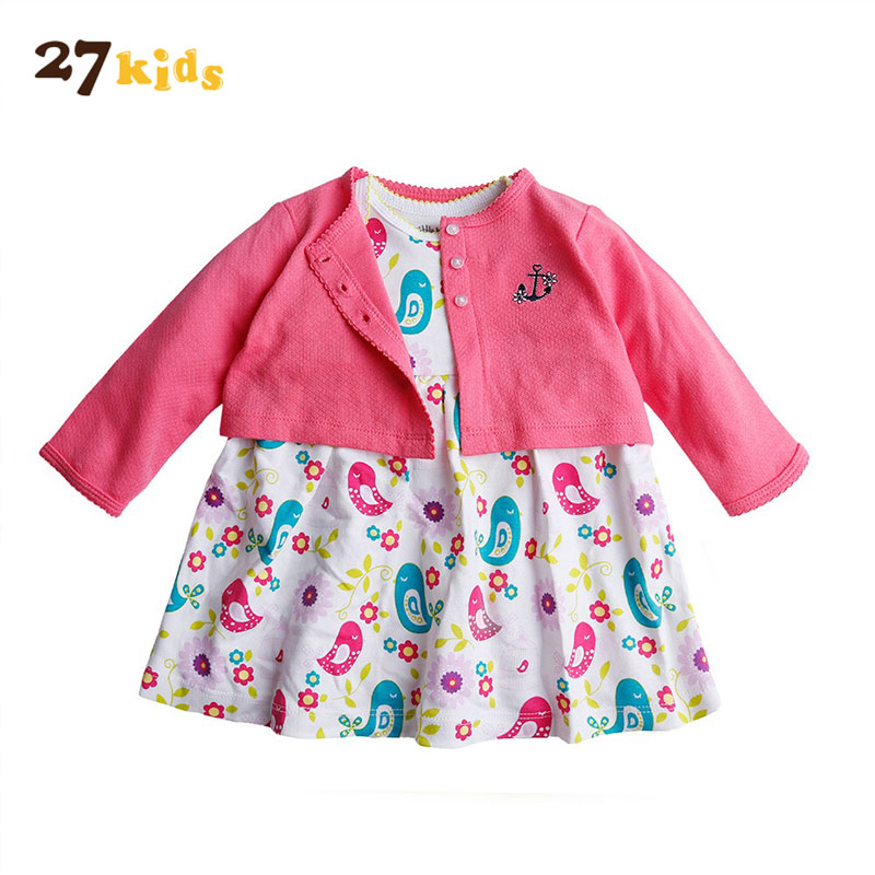 27Kids Baby Girl Clothes Spring Autumn Clothing Set for Girls Long Sleeve Jacket+Dress 2 pcs Children Clothes Bebes Cotton Suit hot sales rd 6442 laser controller main board for co2 laser machine