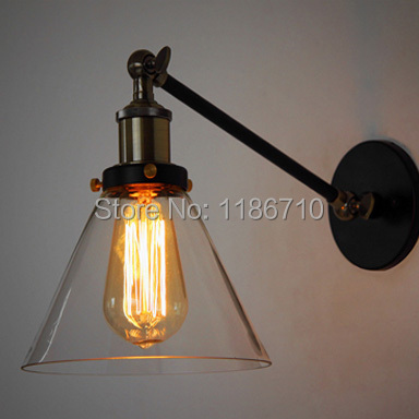 Europe type restoring ancient ways LOFT industrial warehouse wall lamp Titan single section wall lamp American country creative loft warehouse industry wind restoring ancient ways american country single head droplight character art lamp shade