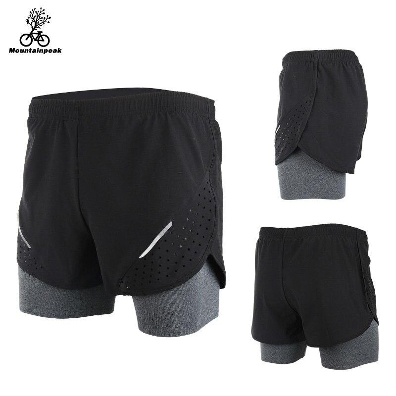 Mountainpeak 2017 Breathable Men's Sports Running Shorts Training Jogging Active Shorts Quality Dry Crossfit Shorts