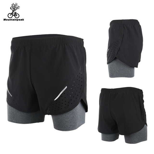 Mountainpeak 2017 Breathable Men's Sports Running Shorts Training Jogging Active Shorts Quality Dry Crossfit Shorts
