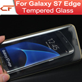 3d curva para samsung para galaxy s7/s7 edge 9 h electrochapa vidrio templado protector de pantalla de película de cobertura total